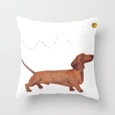 Dachshund Sausage dog Throw Pillow