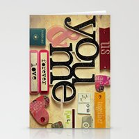 Collage Love - You & Me Stationery Cards