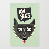 Happy Wolf Canvas Print