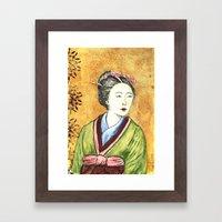 Japanese Woman Framed Art Print