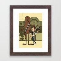 EP4 : Han & Chewie Framed Art Print