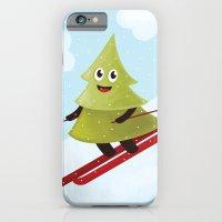 Happy Pine Tree on Ski iPhone 6 Slim Case