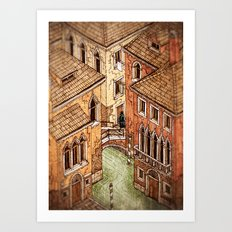 One day in Venice Art Print