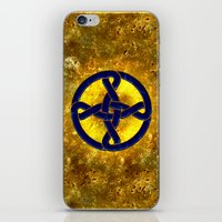 Celtic Knot Blue & Gold iPhone & iPod Skin