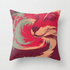 FOX DIE Throw Pillow