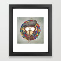 Monkey Artist Framed Art Print