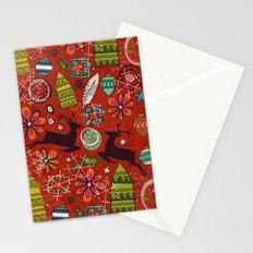 joyous jumble rust Stationery Cards