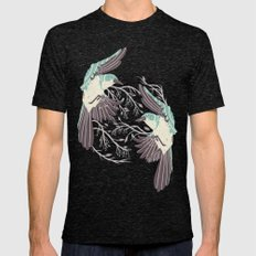 Birds Of Summer Mens Fitted Tee Tri-Black SMALL
