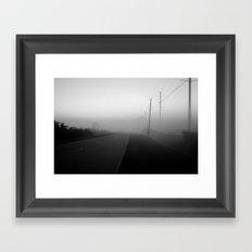 foggy street Framed Art Print