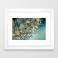 Indigo Sparkles Framed Art Print