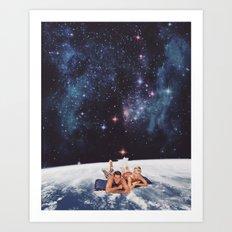Swimming Under The Stars Art Print