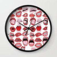 Lip Action Wall Clock