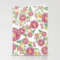 Camellia Japonica Floral Pattern Stationery Cards