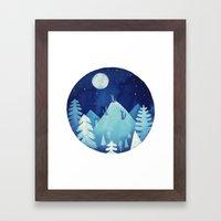 Goodnight Wolf Framed Art Print
