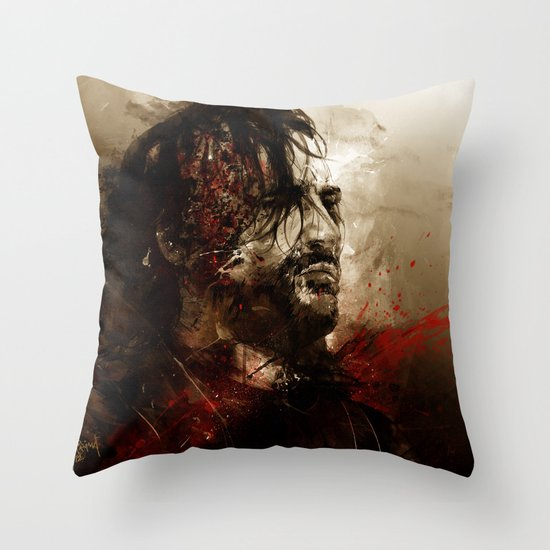 Blood of the Dogs Throw Pillow