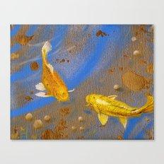 Pair of Golden Koi Canvas Print