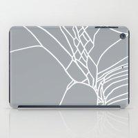 Cracked White on Grey iPad Case