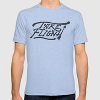 Take Flight Mens Fitted Tee Tri-Blue SMALL