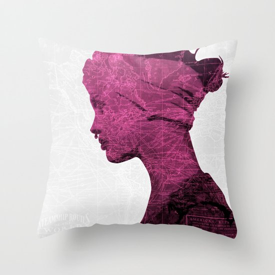 WORLD IS MY TEXTURE Throw Pillow
