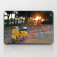 Yellow Vespa iPad Case