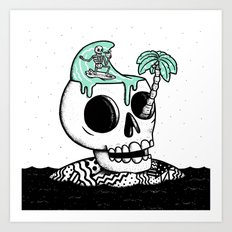 Surfer Thoughts Art Print