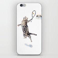 Cat Playing Tennis iPhone & iPod Skin