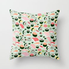 Sushi Love Throw Pillow