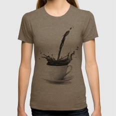 Coffee Womens Fitted Tee Tri-Coffee SMALL