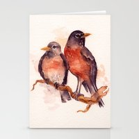 Two Robins Stationery Cards