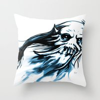 Oni Skull Throw Pillow