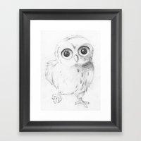 Sweet Little Owl Framed Art Print