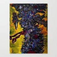 Death Stork Canvas Print