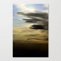 golden skies Canvas Print