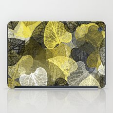 Black & Gold Leaf Abstract iPad Case