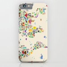 Animal Map of the World Slim Case iPhone 6s