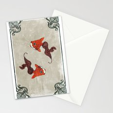 Peony gold fish Stationery Cards