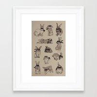 Bandit Bunny Dozen Framed Art Print