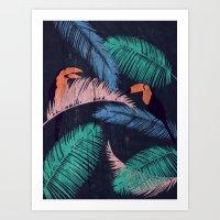 Palms In The Sand | Anim… Art Print