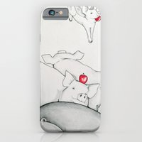 iPhone & iPod Case featuring Flying Pigs by Joshua James Stewart