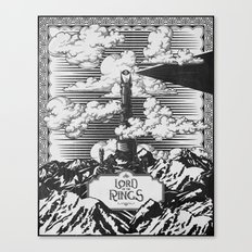 Lord of the Rings Mordor Tower Vintage Geek Art Canvas Print