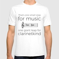 Crossing the break (clarinet) Mens Fitted Tee White SMALL