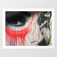 Graffiti Woman, NYC 2011 Art Print