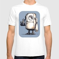 Robot Espresso #2 Mens Fitted Tee White SMALL