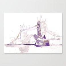 Watercolor landscape illustration_London Bridge Canvas Print