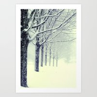 Winter's Walk Art Print
