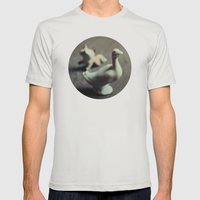 goose & fox Mens Fitted Tee Silver SMALL