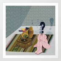 The same old record. Question series Art Print