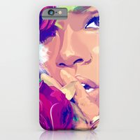 iPhone & iPod Case featuring Rihanna by Liamduignan