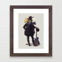 Bird of the street Framed Art Print
