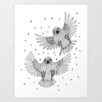 Chicks of prey (belligerant and unconquered) Art Print
